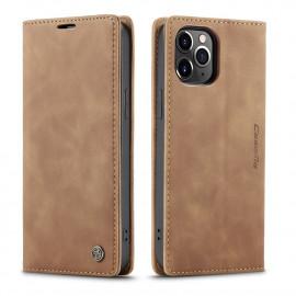 CaseMe Book Case iPhone 12 Pro Max Hoesje - Bruin