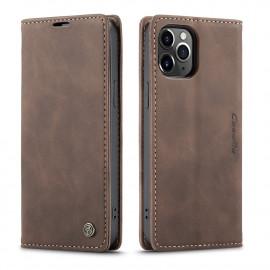 CaseMe Book Case iPhone 12 Pro Max Hoesje - Donkerbruin
