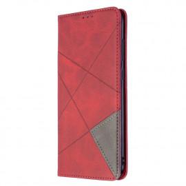 Geometric Book Case Samsung Galaxy M11 / A11 Hoesje - Rood