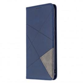 Geometric Book Case Samsung Galaxy M11 / A11 Hoesje - Blauw