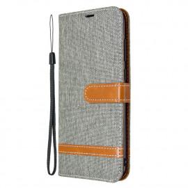 Denim Book Case Samsung Galaxy M11 / A11 Hoesje - Grijs