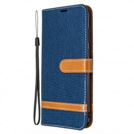 Denim Book Case Samsung Galaxy M11 / A11 Hoesje - Blauw