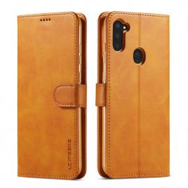 Luxe Book Case Samsung Galaxy M11 / A11 Hoesje - Bruin