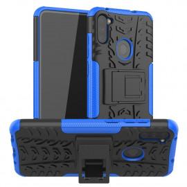 Rugged Kickstand Samsung Galaxy M11 / A11 Hoesje - Blauw