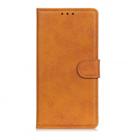 Luxe Book Case Samsung Galaxy A42 Hoesje - Bruin