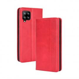 Vintage Book Case Samsung Galaxy A42 Hoesje - Rood