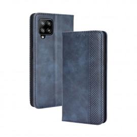 Vintage Book Case Samsung Galaxy A42 Hoesje - Blauw