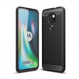 Armor Brushed TPU Motorola Moto G9 Play Hoesje - Zwart