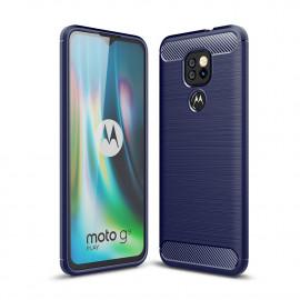 Armor Brushed TPU Motorola Moto G9 Play Hoesje - Blauw