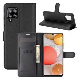 Book Case Samsung Galaxy A42 Hoesje - Zwart