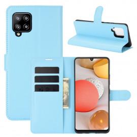 Book Case Samsung Galaxy A42 Hoesje - Lichtblauw