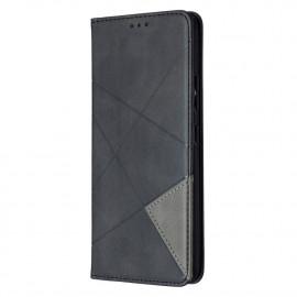 Geometric Book Case Samsung Galaxy A42 Hoesje - Zwart