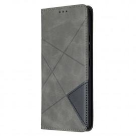 Geometric Book Case Samsung Galaxy A42 Hoesje - Grijs