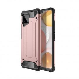 Armor Hybrid Samsung Galaxy A42 Hoesje - Rose Gold