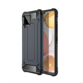 Armor Hybrid Samsung Galaxy A42 Hoesje - Donkerblauw