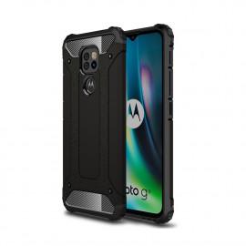 Armor Hybrid Motorola Moto G9 Play Hoesje - Zwart