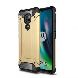 Armor Hybrid Motorola Moto G9 Play Hoesje - Goud