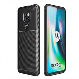 Carbon Fiber TPU Case Motorola Moto G9 Play Hoesje - Zwart