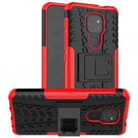 Rugged Kickstand Motorola Moto G9 Play Hoesje - Rood
