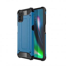 Armor Hybrid Motorola Moto G9 Plus Hoesje - Lichtblauw