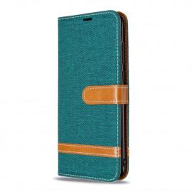 Denim Book Case Samsung Galaxy M11 Hoesje - Groen