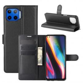 Book Case Motorola Moto G 5G Plus Hoesje - Zwart