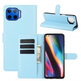 Book Case Motorola Moto G 5G Plus Hoesje - Lichtblauw