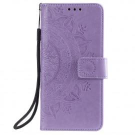 Bloemen Book Case Nokia 3.4 Hoesje - Paars