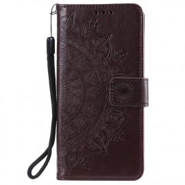 Bloemen Book Case Nokia 3.4 Hoesje - Bruin