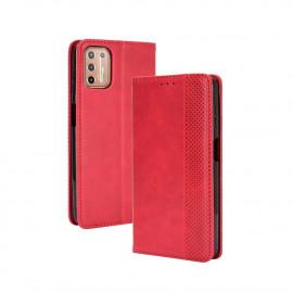 Vintage Book Case Motorola Moto G9 Plus Hoesje - Rood