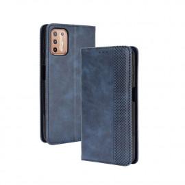Vintage Book Case Motorola Moto G9 Plus Hoesje - Blauw