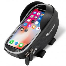 Fietstas voor Smartphone op Stuurpen - Zwart