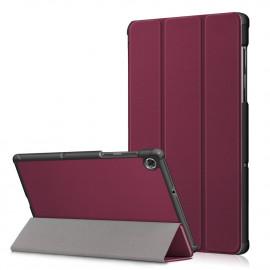 Tri-Fold Book Case Lenovo Tab M10 FHD Plus Hoesje - Bordeaux