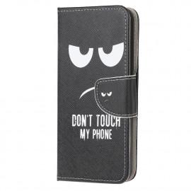 Book Case Motorola Moto E7 Hoesje - Don't Touch