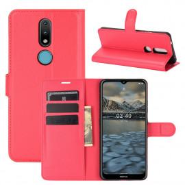 Book Case Nokia 2.4 Hoesje - Rood