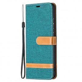 Denim Book Case Nokia 2.4 Hoesje - Groen