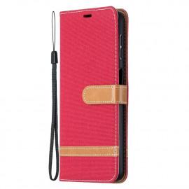 Denim Book Case Samsung Galaxy A32 5G Hoesje - Rood