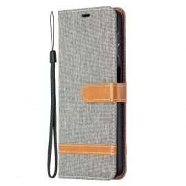 Denim Book Case Samsung Galaxy A32 5G Hoesje - Grijs