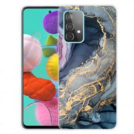 Marmer TPU Samsung Galaxy A32 5G Hoesje - Blauw / Goud