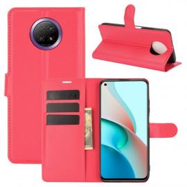 Book Case Xiaomi Redmi Note 9T Hoesje - Rood