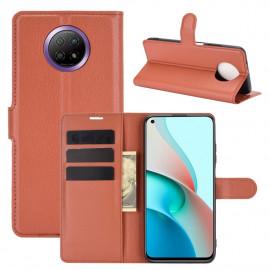 Book Case Xiaomi Redmi Note 9T Hoesje - Bruin