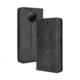 Vintage Book Case Xiaomi Redmi Note 9T Hoesje - Zwart