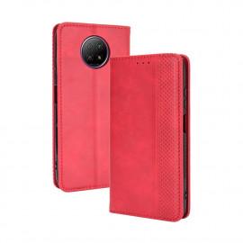 Vintage Book Case Xiaomi Redmi Note 9T Hoesje - Rood
