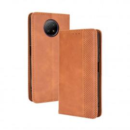 Vintage Book Case Xiaomi Redmi Note 9T Hoesje - Bruin
