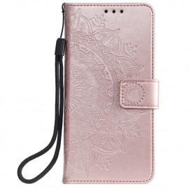 Bloemen Book Case Xiaomi Redmi Note 9T Hoesje - Rose Gold