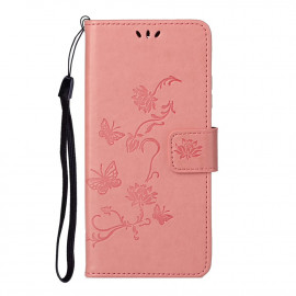 Bloemen Book Case Samsung Galaxy S21 Hoesje - Pink