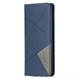 Geometric Book Case Samsung Galaxy S21 Hoesje - Blauw