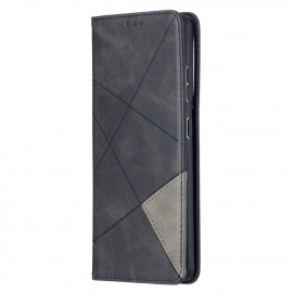 Geometric Book Case Samsung Galaxy S21 Ultra Hoesje - Zwart