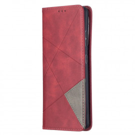 Geometric Book Case Samsung Galaxy S21 Ultra Hoesje - Rood
