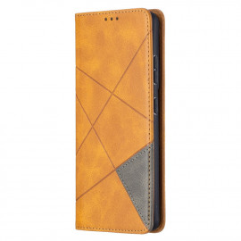 Geometric Book Case Samsung Galaxy S21 Ultra Hoesje - Bruin